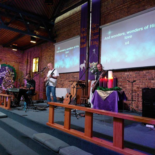 West View Methodist Church worship team on stage